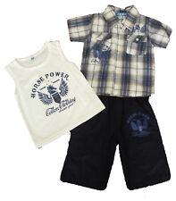 Conjuntos niño , pantalones cortos y camisa  de ZSF, azul ,talla 6