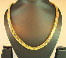 RF Width 1 cm Statement Gold plated chain necklace