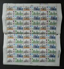 British Cathedrals. Mint Stamp Sheet 72 Stamps. 1969 5d, Architecture Royal Mail