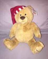 Amazon Gund 2017 Teddy Bear Plush Tan Limited Edition Red Hat stuffed animal New