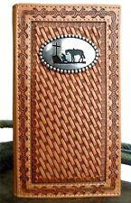 New! Nocona Western Wallet Mens Cowboy Rodeo Prayer Honey Wheat N5431648