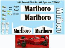 1/20 FERRARI SPONSOR F310B 1997 MICHAEL SCHUMACHER DECALS TB DECAL TBD143