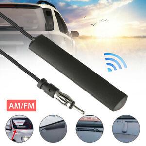 Black Car Radio Stereo Hidden Antenna Stealth FM AM For Car Truck Motorcycle