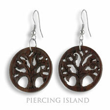 Ohrringe Holz Baum des Lebens Tree Of Life Earrings Design Schmuck ER270