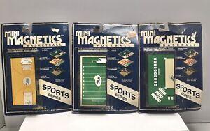 FUNDEX - Mini Magnetics Sports Series Lot - Baseball - Football - Basketball NEW