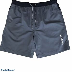 Speedo Swim Trunks size XXL Gray  Drawstring Pockets NWT
