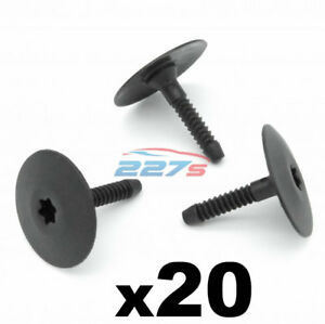 20x Side Skirt & Undertray Plastic Fasteners / Clips - Fits BMW 07147296886