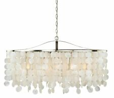 90cm Modern Lighting Capiz Shell Elsa Light Linear Chandelier Dining Room REC