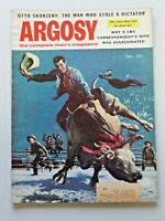 Vintage ARGOSY Men's Magazine December 1955 Man who Kidnapped Mussolini 6061