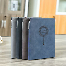 Retro Notebook Journal Diary Sketchbook Faux Leather Cover Thick Blank Pages A5