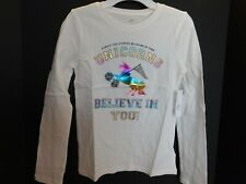 NWT GAP Girl's T-Shirt Unicorns Believe in You S/6-7 M/8 L/10-11 XL/12 XXL/14-16