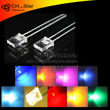 9colors 180pcs 2x5x7mm Rectangular Led Diodes water clear White Purple Mix Kits