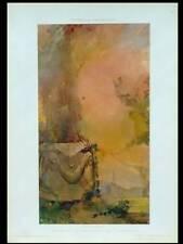 LEOPOLD CARELLI, JARDIN ART NOUVEAU -1910- PHOTOLITHOGRAPHIE