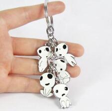 Anime Kodama Princess Mononoke White Tree Spirit Keychain Pendant Gift Top Sale