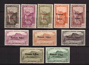 Réunion - France Libre. - Lot de 10 timbres neufs ** - cote 17,4 €