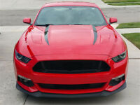 NEW Style Stripe Graphics Hood Decal Black Stripes sticker for 2016 FORD MUSTANG