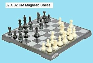 LARGE Size 32 CM Magnetic Folding Chess Board Portable Set Quality Games Camping