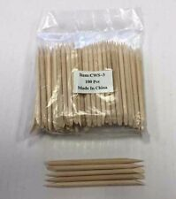 3'' Wooden Wood Sticks for Nail Art Cuticle Pusher Remover Manicure Tool 100 pcs