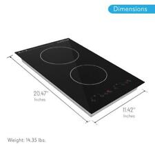 NUTRICHEF Dual Induction Cooktop, Countertop Burner w Digital Display, PKSTIND52