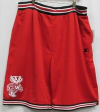 University of Wisconsin Badgers NCAA STARTER Mesh Shorts Red L