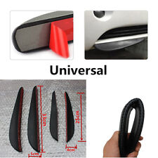 Universal Car Front&Rear Bumper Splitter Fins Lip Spoiler Canard Chin CF Look 4x