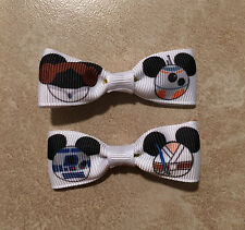 Mini Mickey Mouse Star Wars Hair Bows with Alligator Clips R2D2