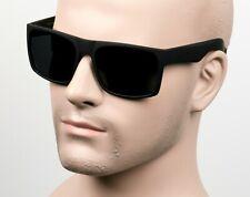 Large Square Cholo Sunglasses Super Dark OG LOC Style Gangster Black/Matte C8ST