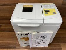 HINARI HOMEBAKER MODEL HB154 BREAD MAKER WHITE APPLIANCE