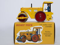 1/43 DINKY TOYS 830 ROULEAU COMPRESSEUR RICHIER Roller ORIENTABLE CAR MODEL