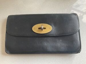 Mulberry black leather long locked purse wallet - match to bag!