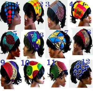 African Fabric Ankara Print Cotton Hair Band Headband -Choose