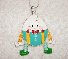 Humpty Dumpty inspirado grande Collar de encanto serpiente cadena