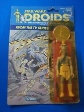 STAR WARS Vintage DROIDS (tv series)  KEZ-IBAN w/Coin  1985 MOC