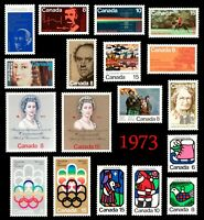 1973 Complete Year Set / Canada postage stamps  MNH  - Superfleas