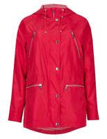 Ex M*S Per Una Hooded Stormwear Parka Mac Coat Jacket Size 8 - 20