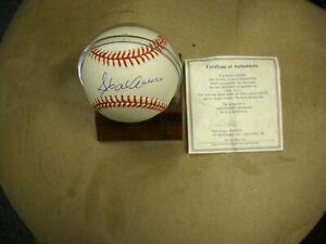 HOFer Hank Aaron Milwaukee Atlanta Braves Autographed Official NL Ball & COA