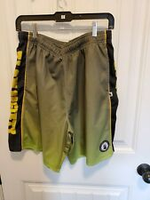 Flow Society Men's Atheltic Shorts Lacrosse Mesh Green Yellow Ombre