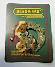 Boyds Bears 1995 Bearwear Pin Style #26017 Pin Brooch