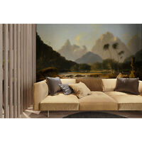 Wall Mural Sticker Watercolor Paradise Vintage Removable Wallpaper Decal