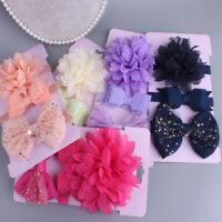 KE_ ITS- AU_ 3Pcs/Set Baby Girl Mesh Flower Bowknot Headbands Headwear Hair De