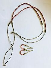 Silver and Coral Necklace with Earrings Sterling