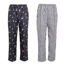 2Pcs Chef Pants Restaurant Elastic Comfy Work Trousers 2 Pattern