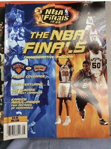 NBA Finals-1999-Commemorative Program-New York Knicks-San Antonio Spurs MINT