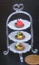 1:12 Scale 3 Tier Glass Cake Stand Tumdee Dolls House Food Accessory Nk1