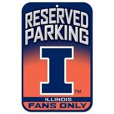 "Illinois Fighting Illini Reserved Parking Sign 11""x 17"""