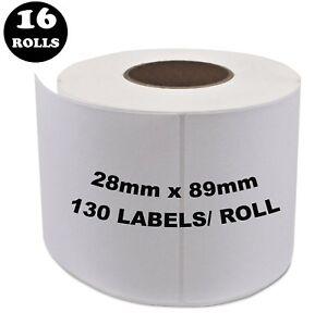 16 Rolls Dymo Seiko Compatible 99010 Labels 28mm x 89mm Labelwriter 450 Printer