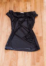 Orsay Shiny Black Sleeveless Top - Size Large