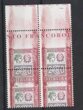 FRANCOBOLLI - 2004 REPUBBLICA ALTO VALORE € 2,80 VARIETA' QUARTINA MNH Z/9643
