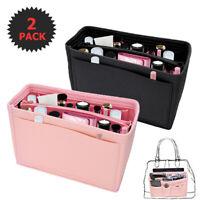 Lot2 Felt Purse Handbag Organizer Insert -13 pocket Storage Tote Shaper Bag USA
