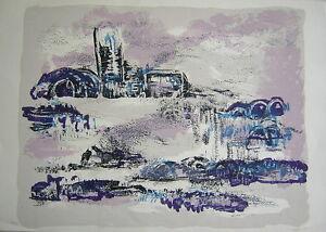 Ruth Horam: Landscape in Velvet / Israeli Jewish S/Color Lithograph